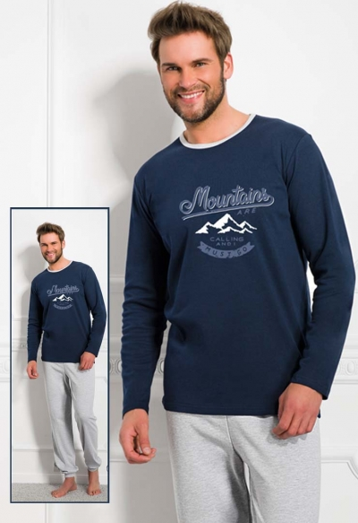 Мужская пижама с брюками 1011 KUBA, TARO