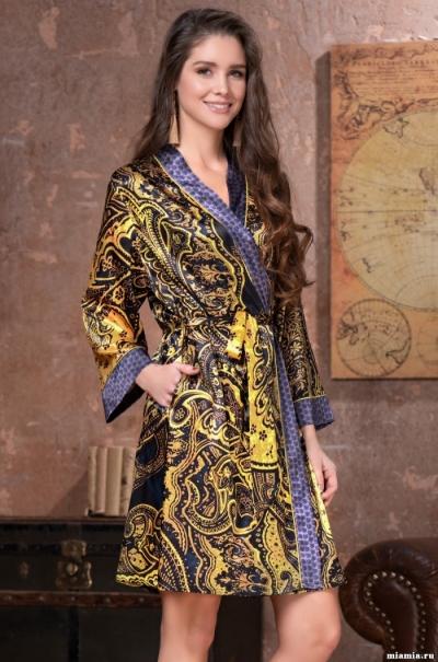 Короткий халат Mia-Amore Армани Голд Armani Gold 3493