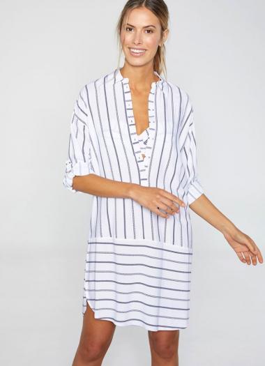 Рубашка пляжная 85668 белый+синий,Ysabel Mora, Испания