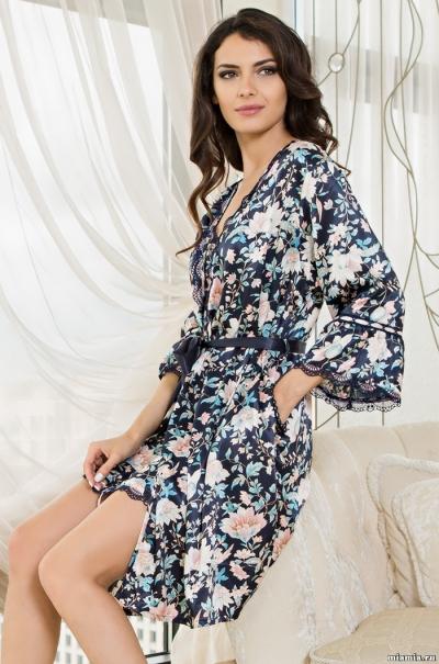 Короткий халат Mia-Amore Эмилия Emilia 5963